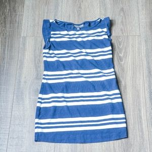 A Pea in a Pod Blue/White Striped Sleeveless Top